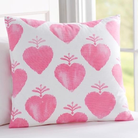 Pottery Barn Accents Potterybarn Kids Watercolor Hearts Throw Pillow B2 Poshmark